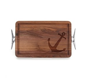 Walnut Cutting Board - Anchors Aweigh